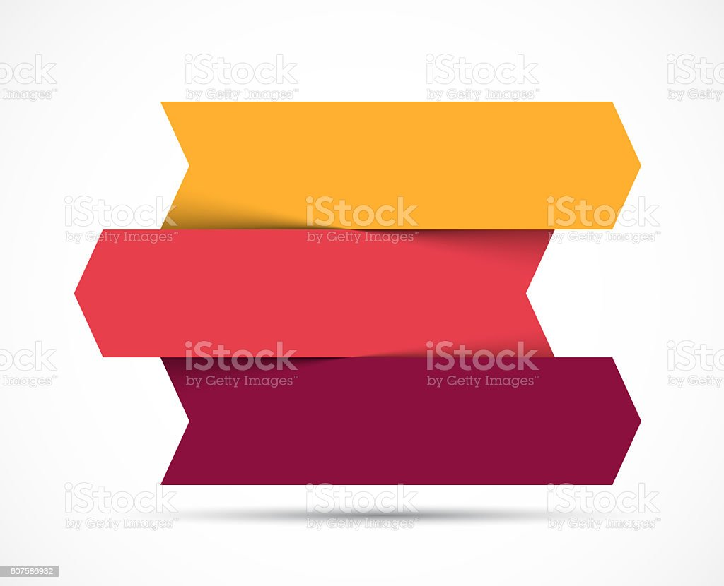 Arrows infographic, diagram chart, graph presentation. Business concept with 3 stock photo