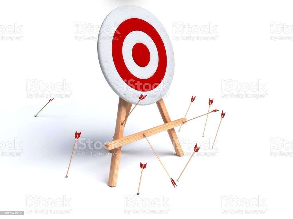 arrows missing target stock photo