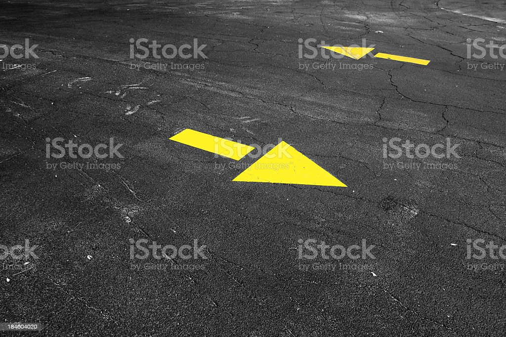 arrows on road royalty-free stock photo