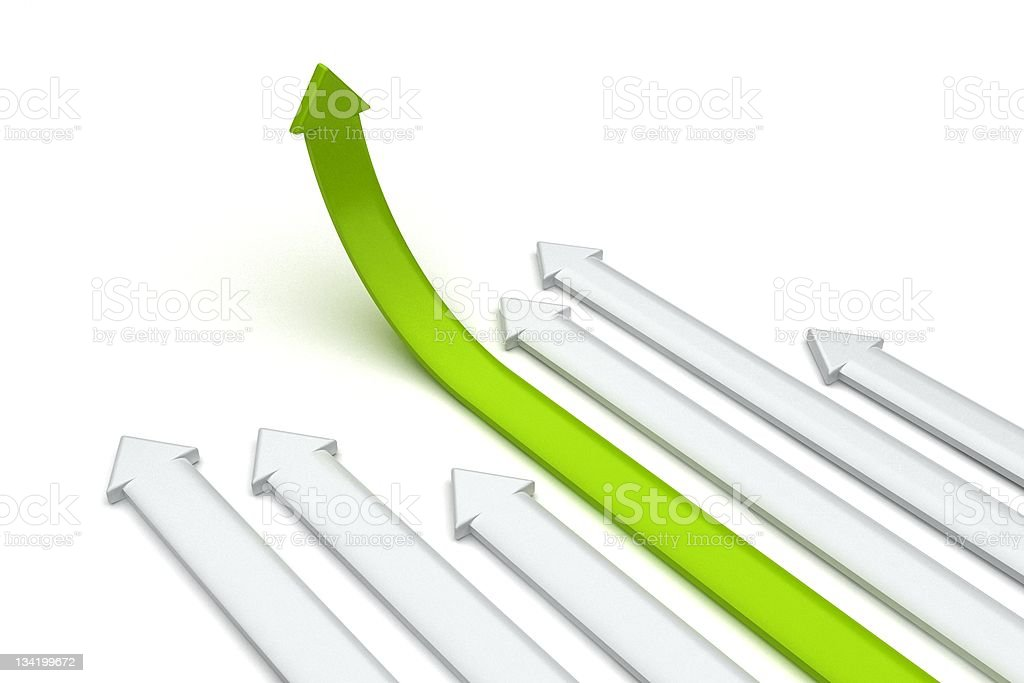 Arrows on the rise royalty-free stock photo