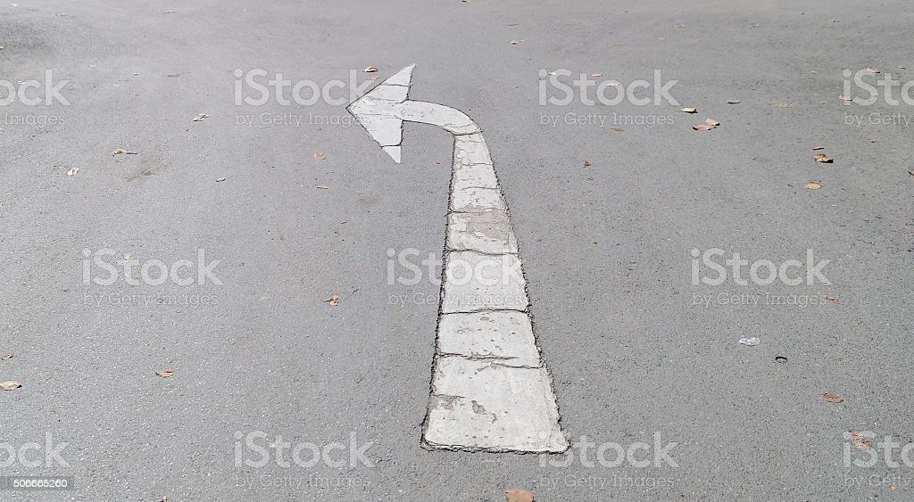 arrows on the road stock photo