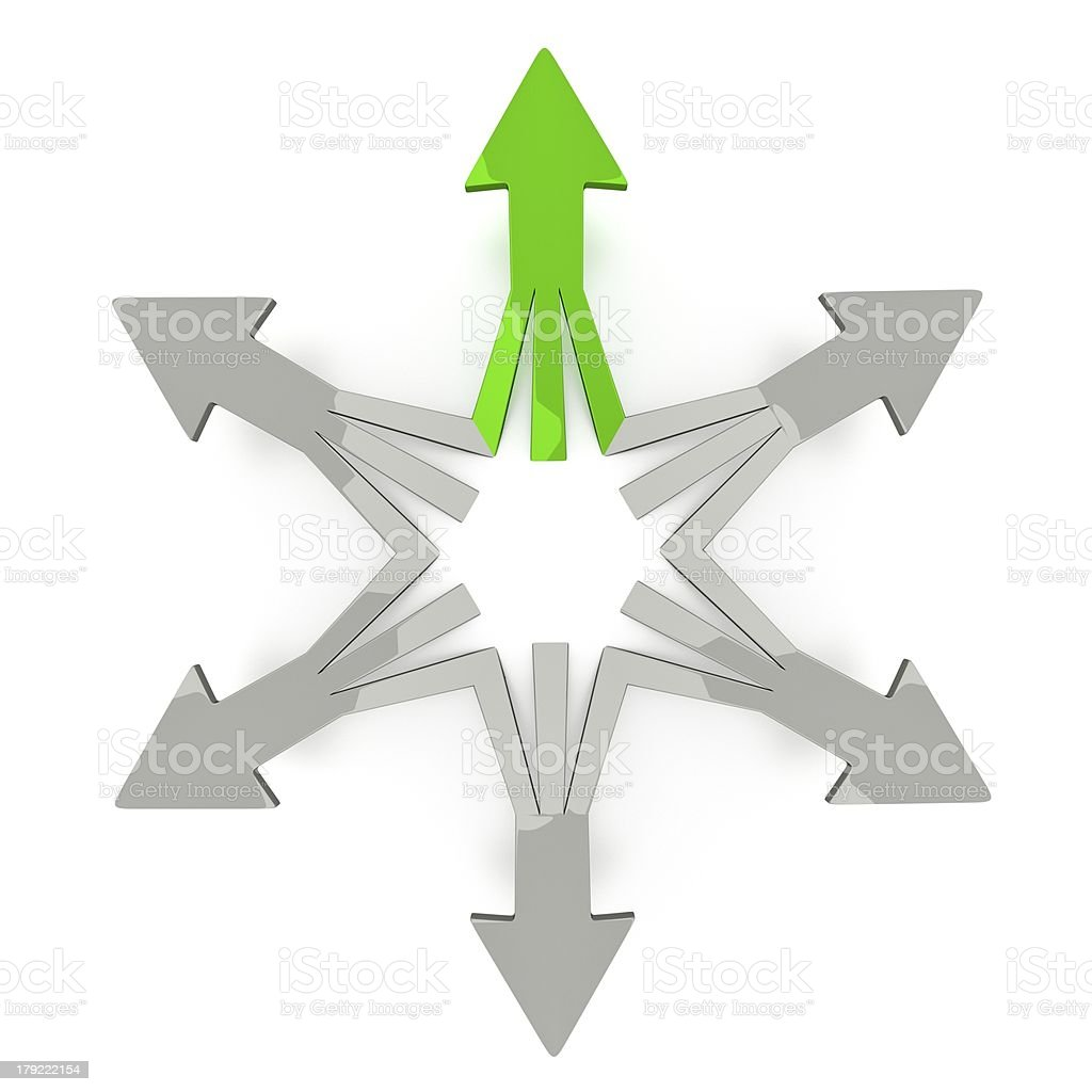 3D Arrows - One Good Choice royalty-free stock photo