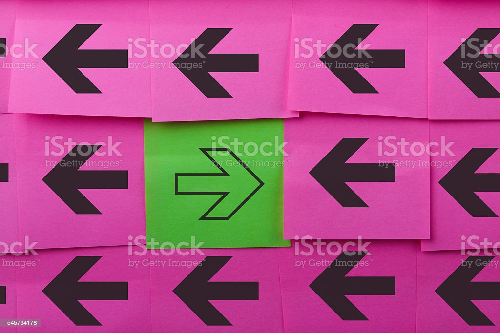 Arrows. Opposing concept. stock photo