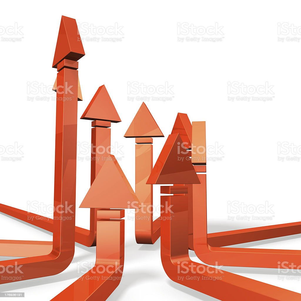 Arrows represents the friendly competition. royalty-free stock photo