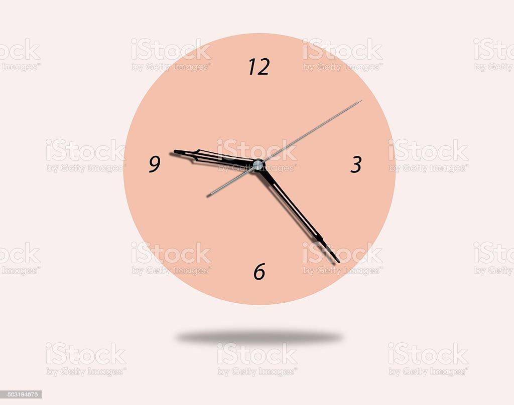Arrows wall clock stock photo