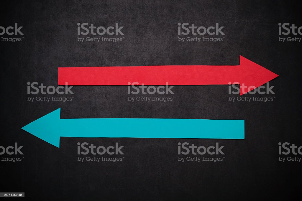 Arrows with copy space stock photo