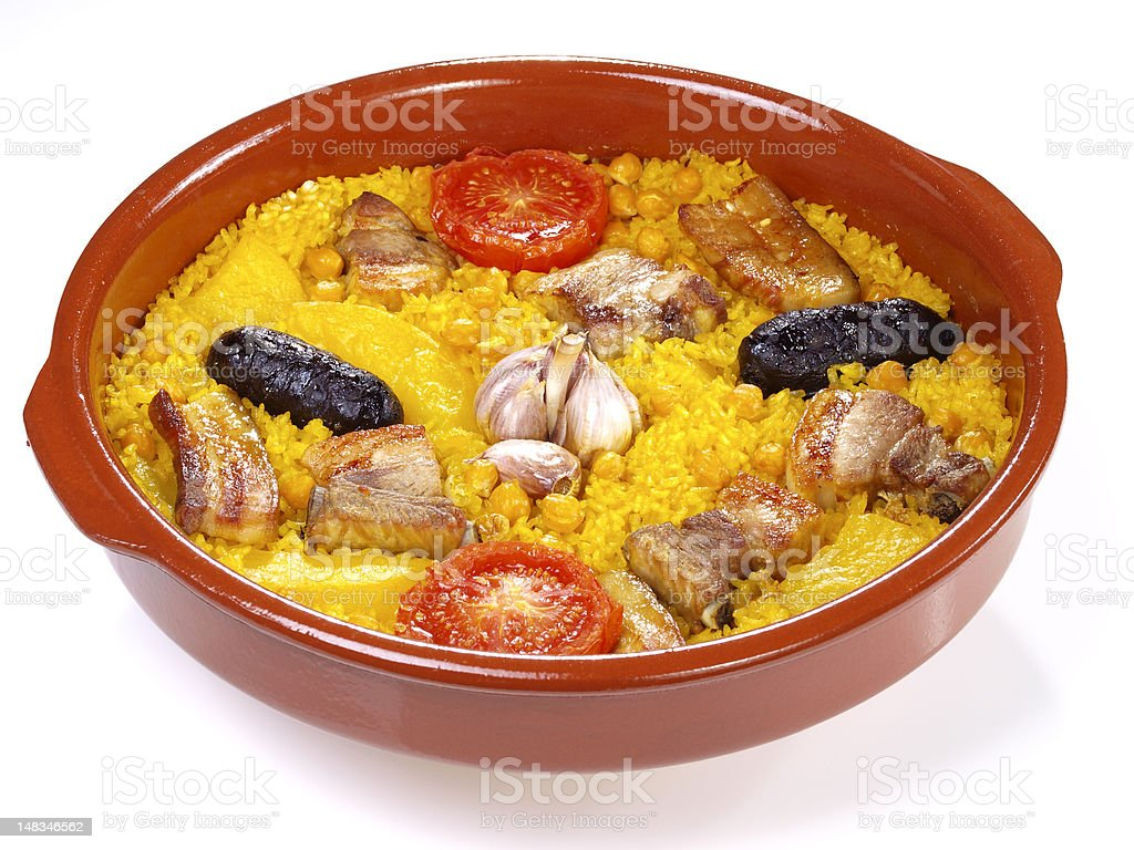 Arroz al Horno – Oven cooked rice royalty-free stock photo