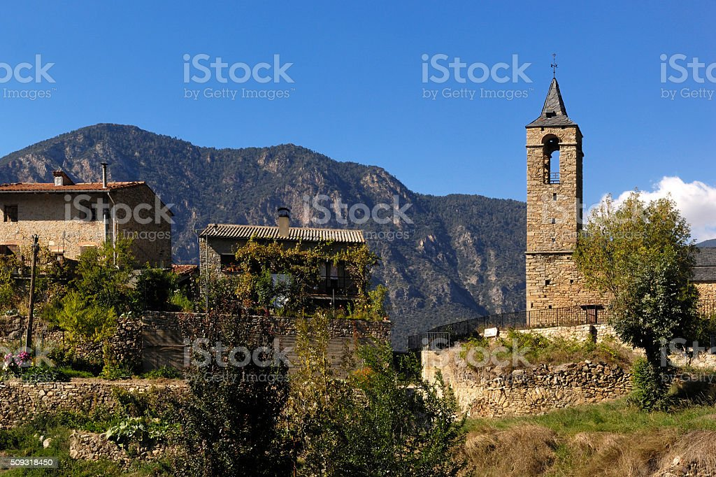 Arseguel, Arseguell, Alt Urgell, Pyrenees mountains, Lleida, Spain stock photo