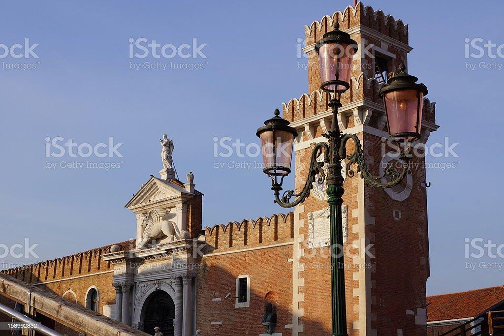 Arsenale in Venice stock photo