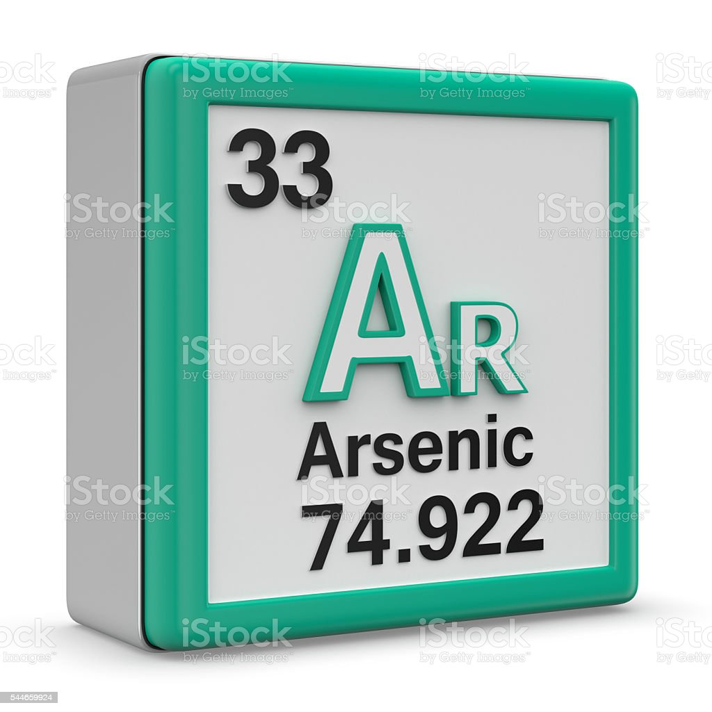 Arsenic Element stock photo