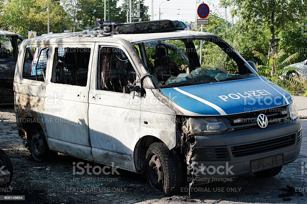 Arson Attack stock photo