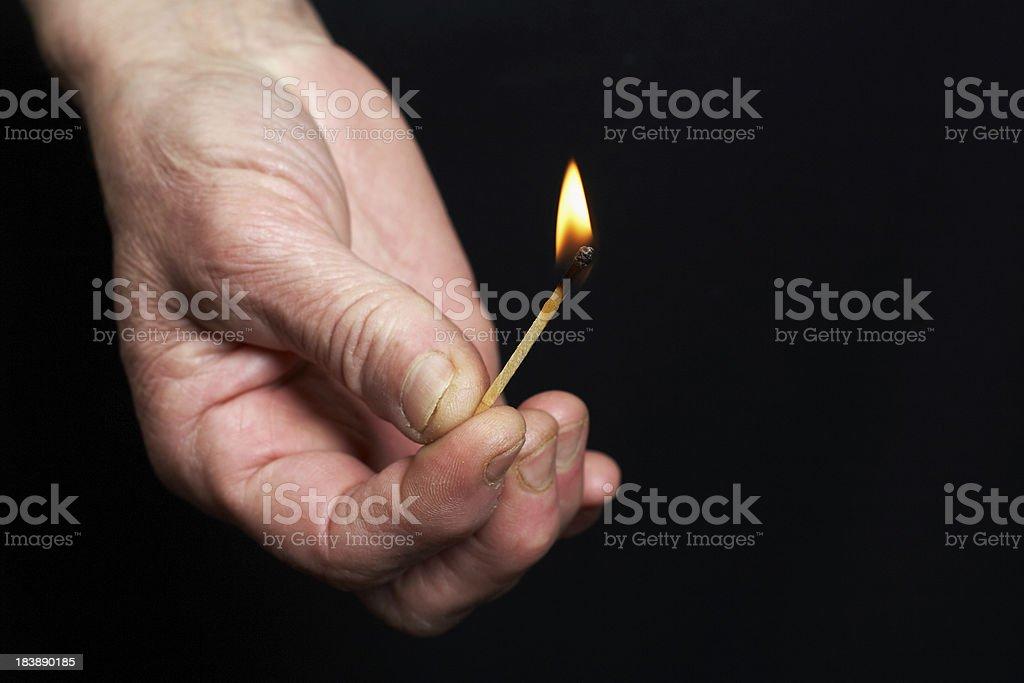 Arson stock photo
