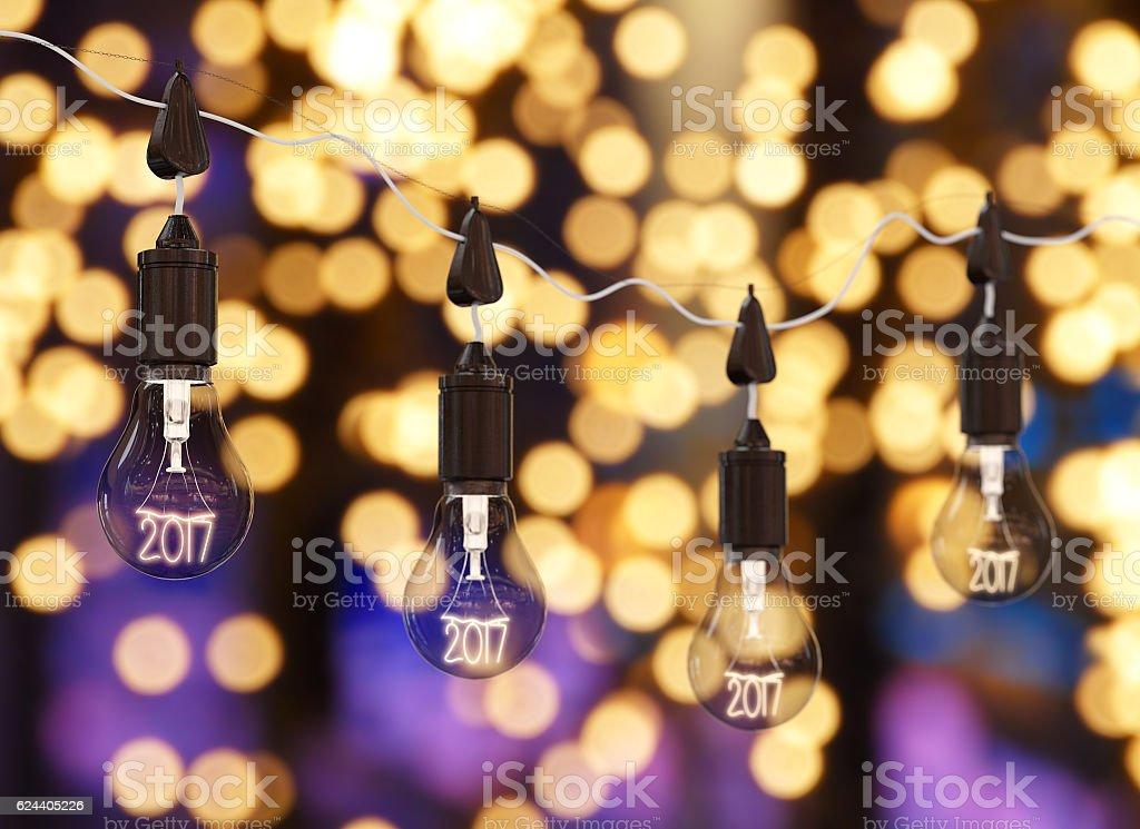 Art 2017 light bulbs royalty-free stock photo