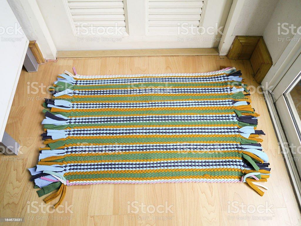 Art abstract  doormat. royalty-free stock photo