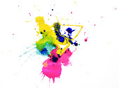 Art abstract water-coloured painted blot
