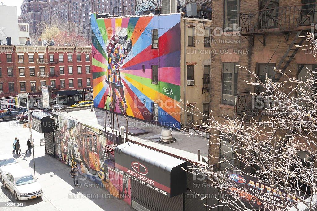 Art Along the High Line stock photo