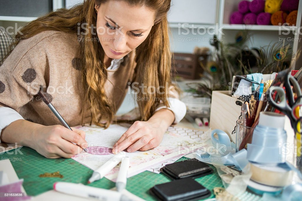 Art and craft of card making stock photo