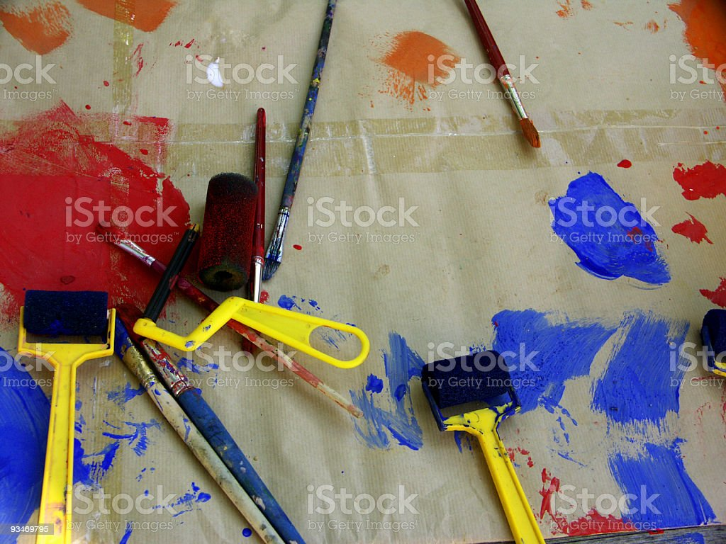 art and crafts table royalty-free stock photo