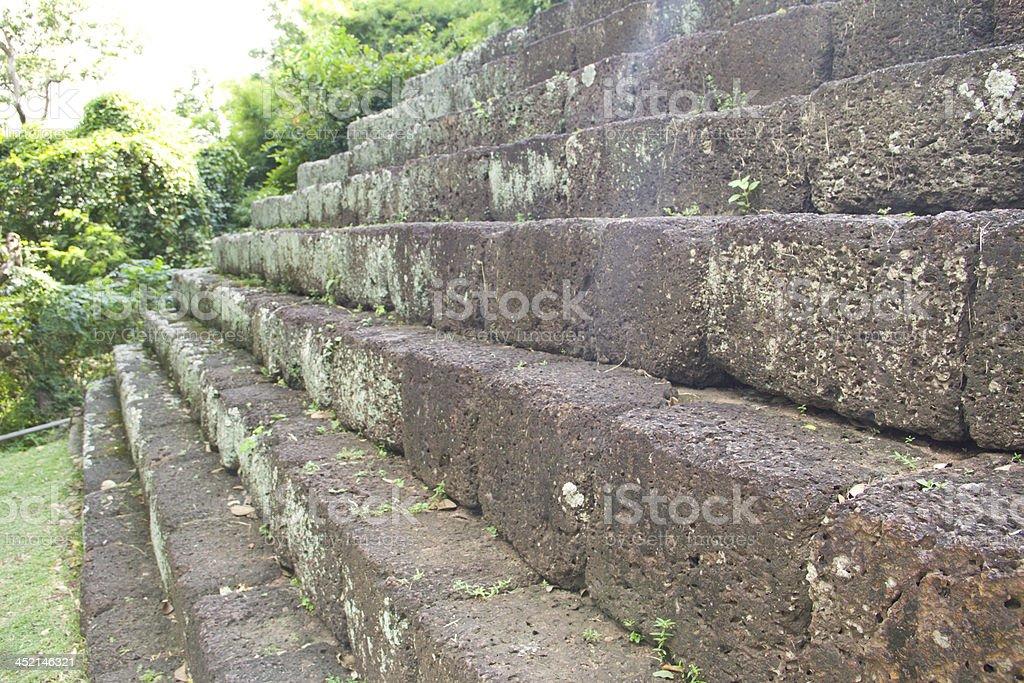 Art at ancient castle (Panomrung) royalty-free stock photo