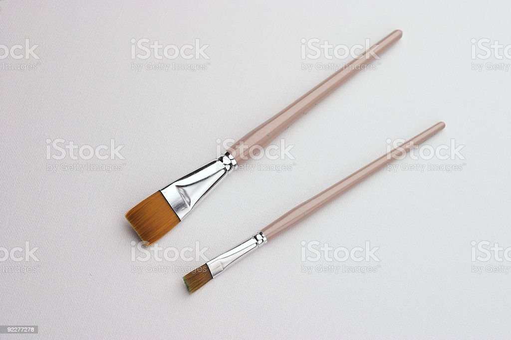 Art Brushes On Canvas royalty-free stock photo