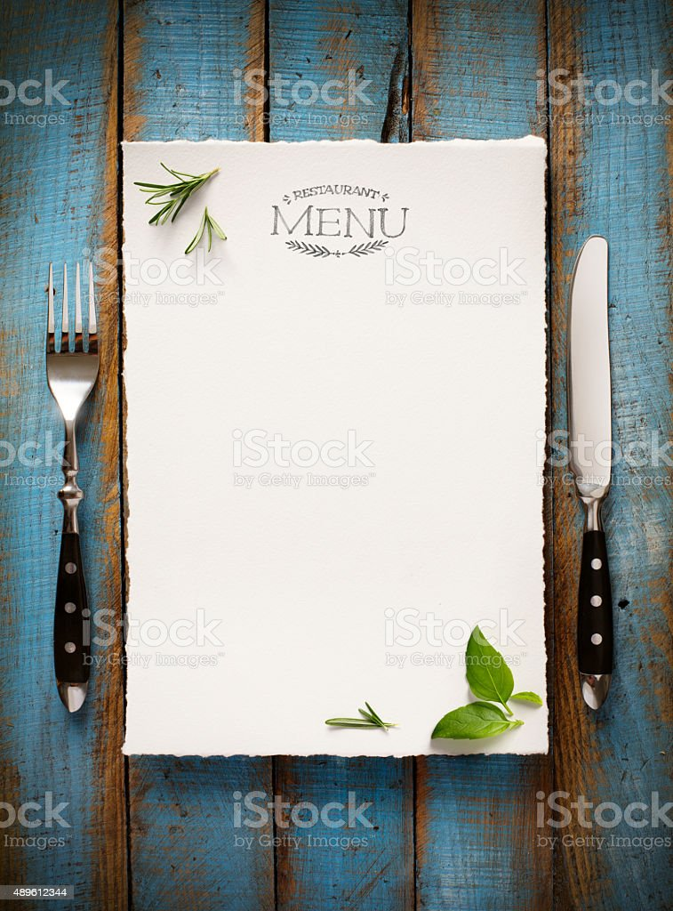 art Cafe menu restaurant brochure. Food design template stock photo