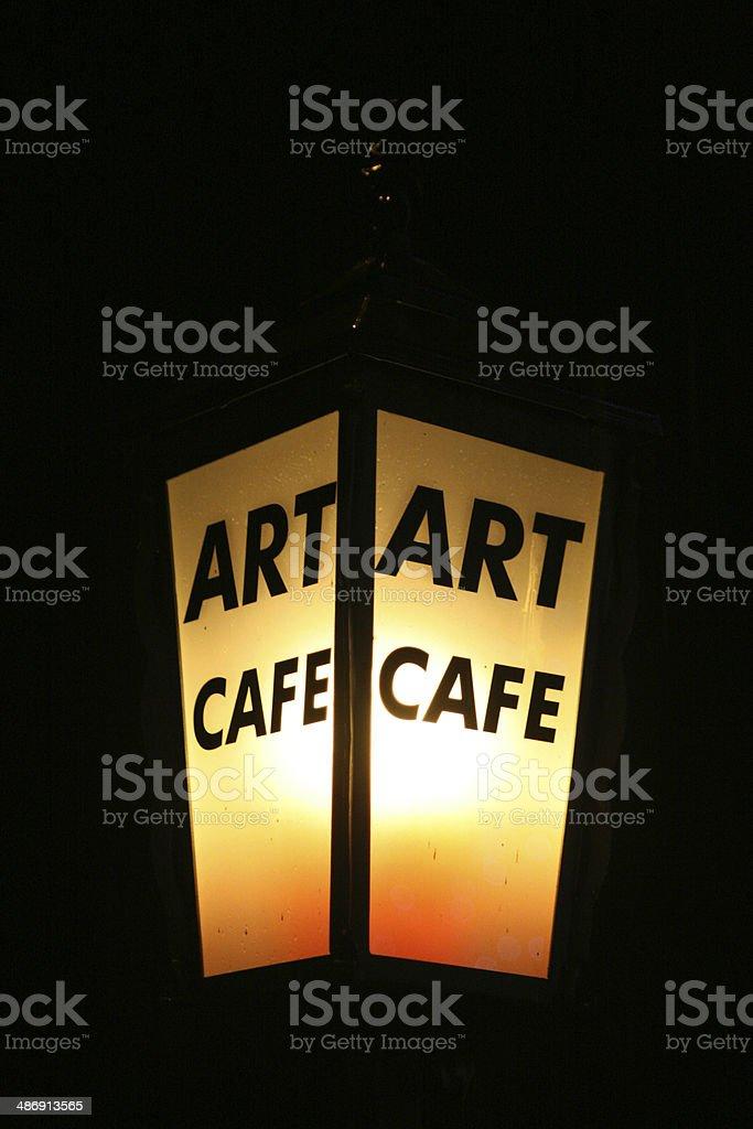 Art caffe light royalty-free stock photo