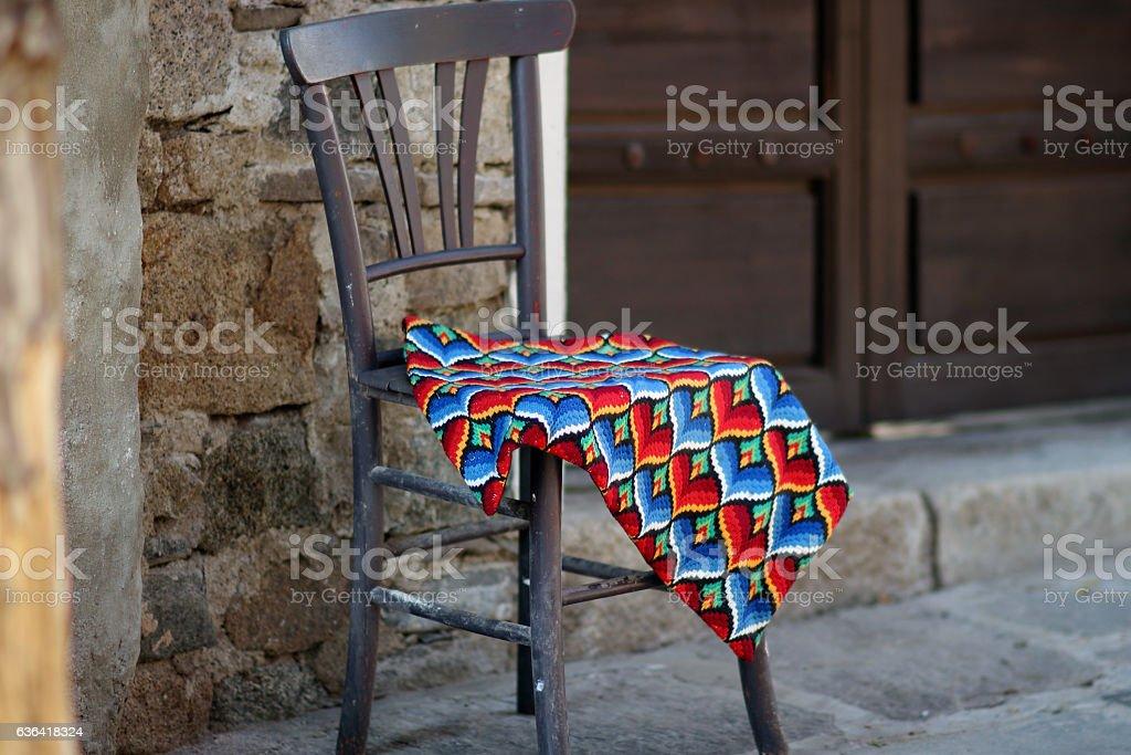 Art chair stock photo