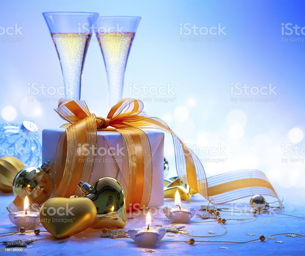 Art Christmas and New Year party royalty-free stock photo