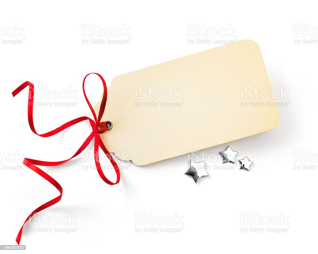 art Christmas sales tag stock photo