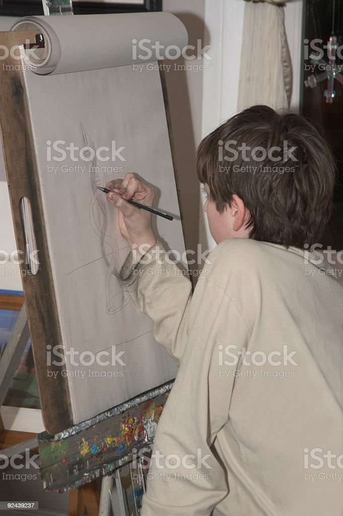 Art class 1 royalty-free stock photo