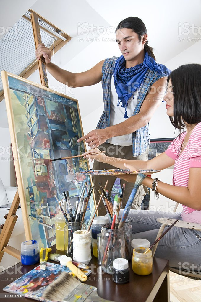 Art Class royalty-free stock photo
