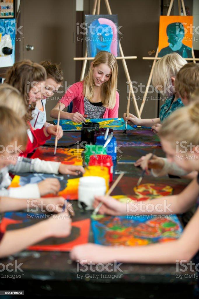 Art Class royalty-free stock photo