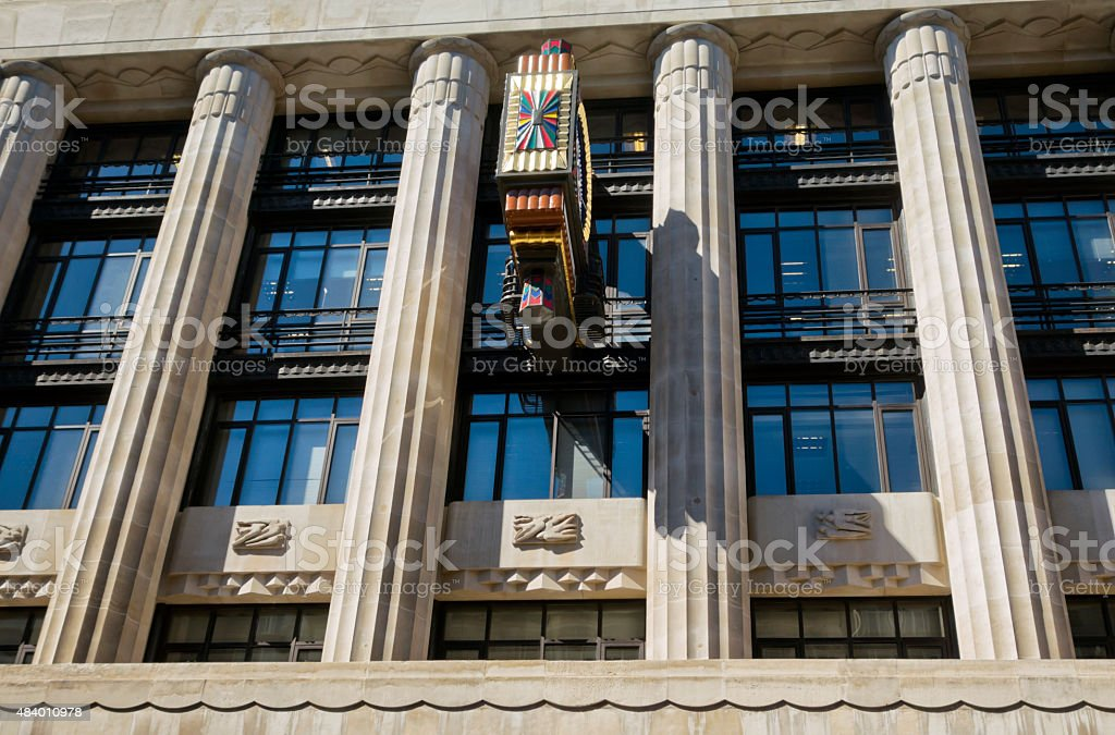 Art Deco architecture in Fleet Street, London stock photo