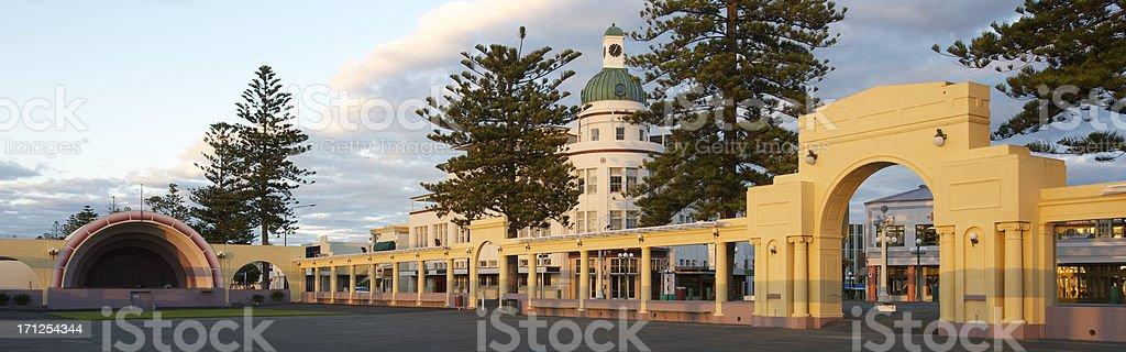 Art Deco Architecture in New Zealand stock photo