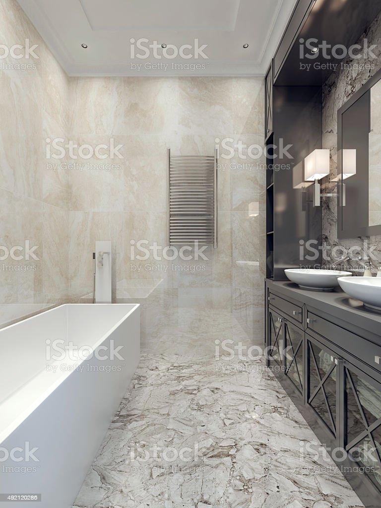 Art deco bathroom style stock photo