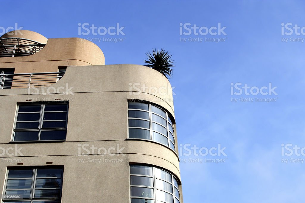 Art Deco Building - 1930's-1940's modernist design stock photo