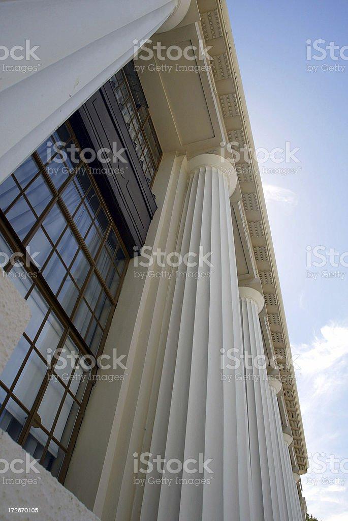 Art Deco Building NZ 3 stock photo