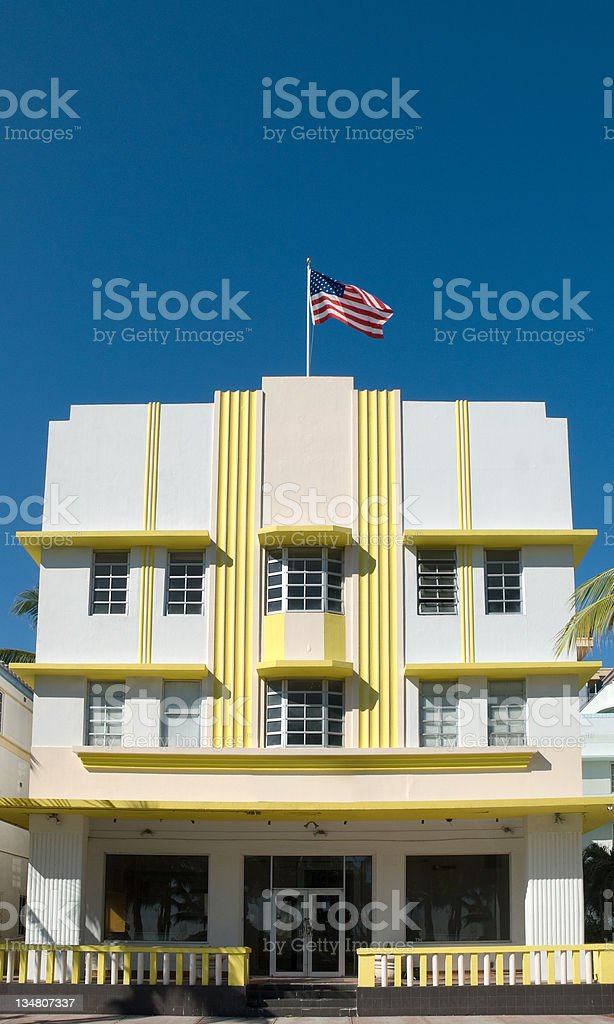 Art Deco Building - South Beach, Miami stock photo