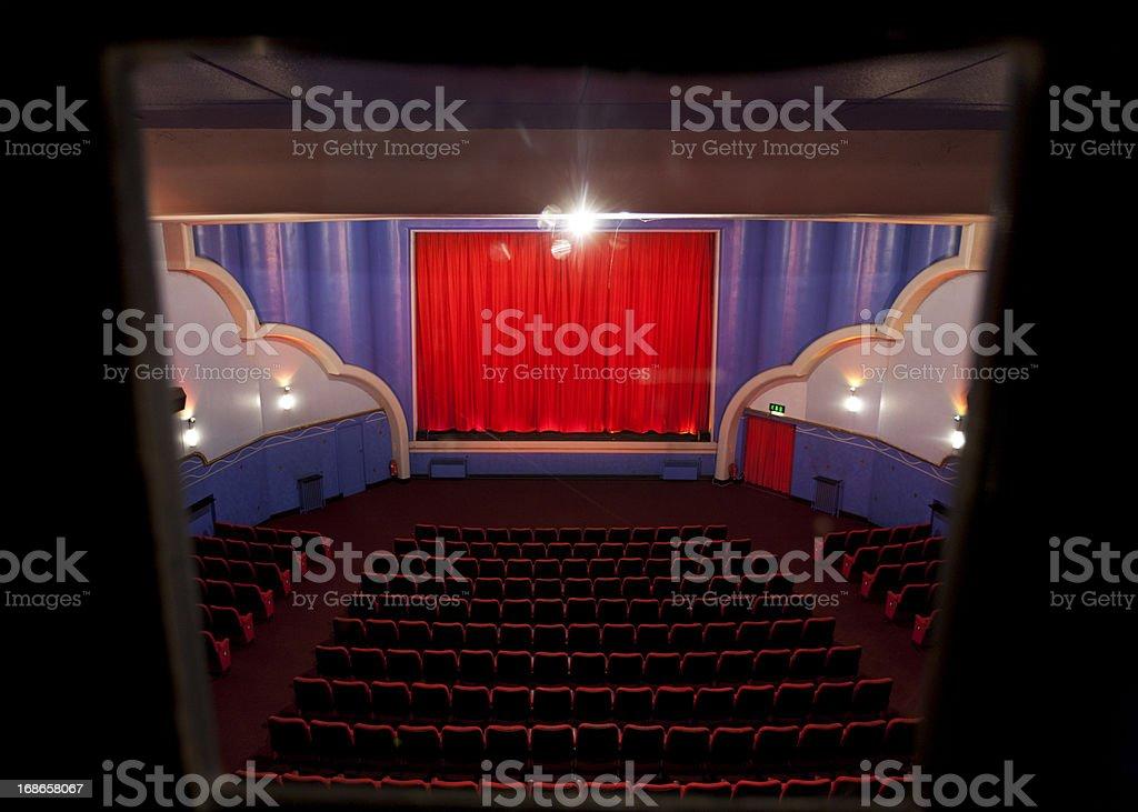 Art deco cinema royalty-free stock photo