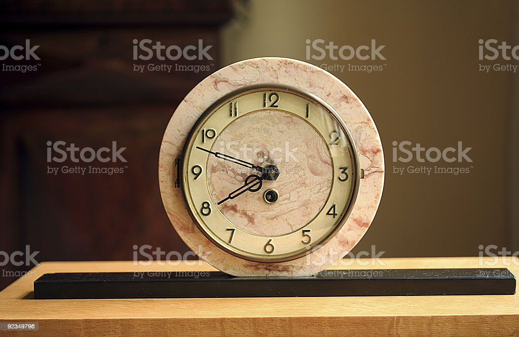 art deco clock stock photo