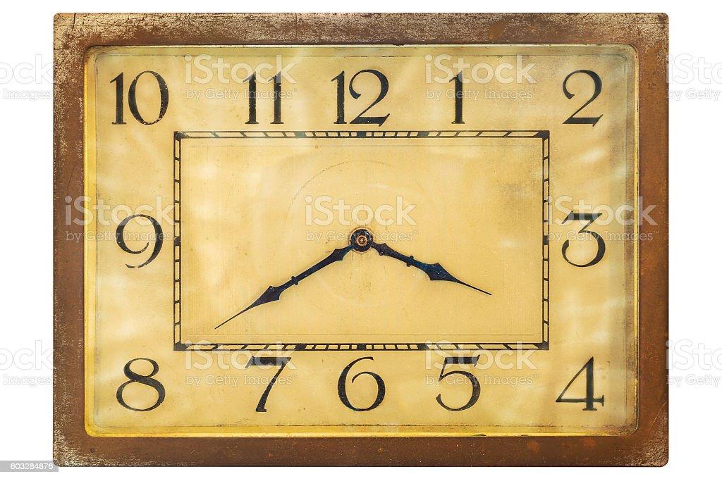 Art deco clockface from the early twentieth century stock photo