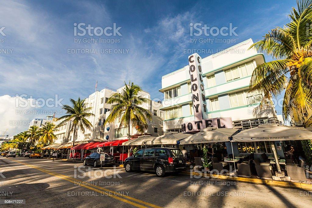 Art deco Colony hotel royalty-free stock photo
