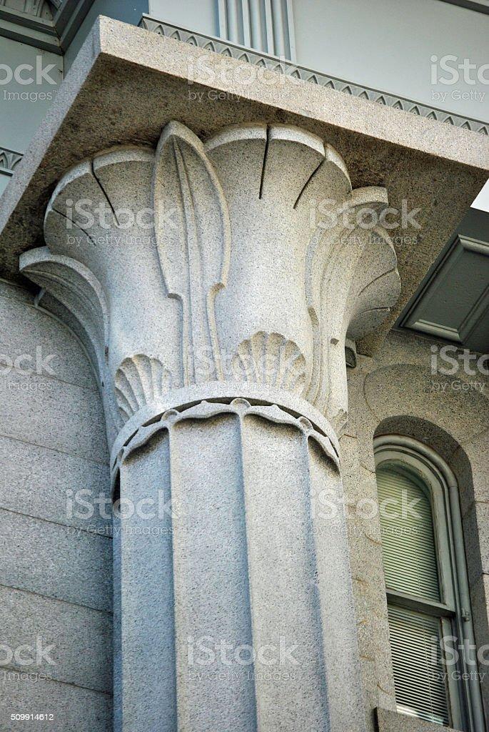 Art Deco Column stock photo