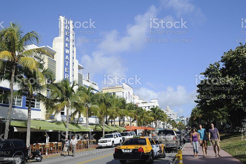 Art Deco District in Miami Beach royalty-free stock photo