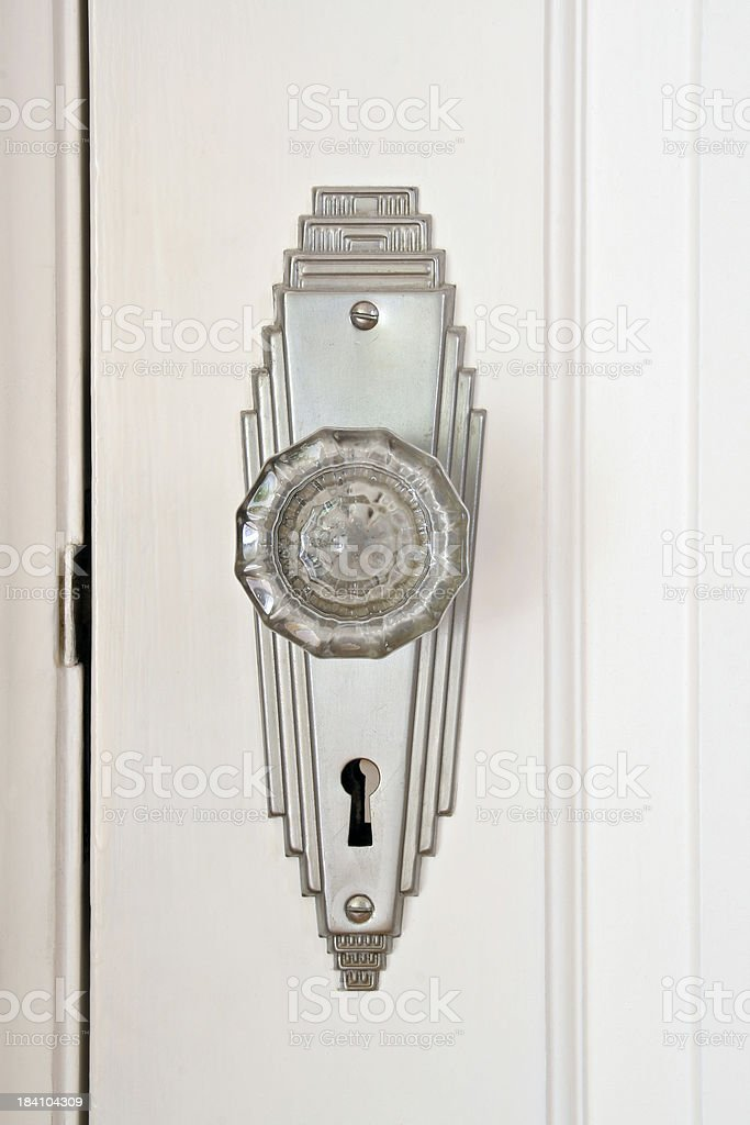 Art Deco Door Knob royalty-free stock photo