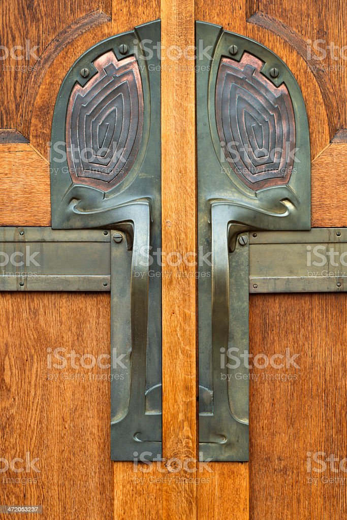 Art Deco Door Knob stock photo