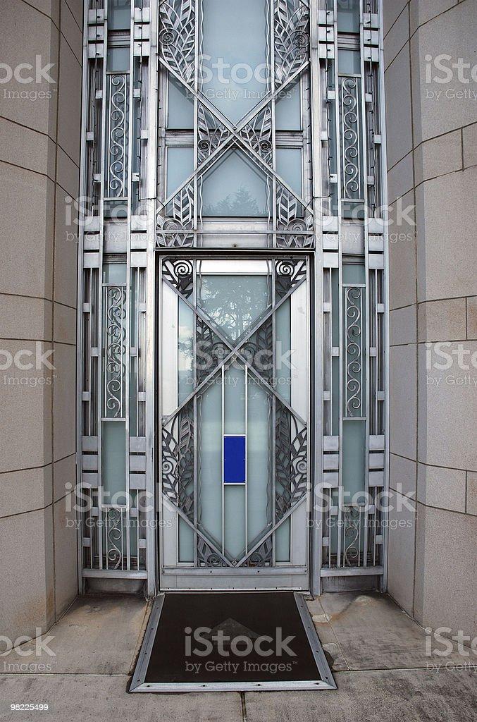 Art Deco Door stock photo