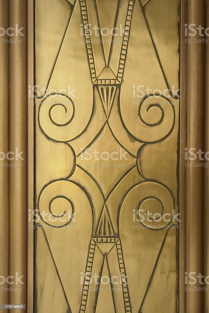 Art Deco engraved stock photo