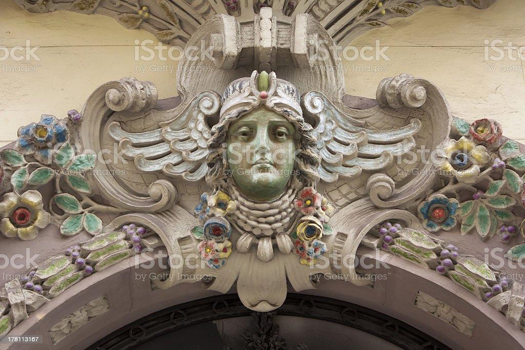 Art Deco entrance decoration stock photo