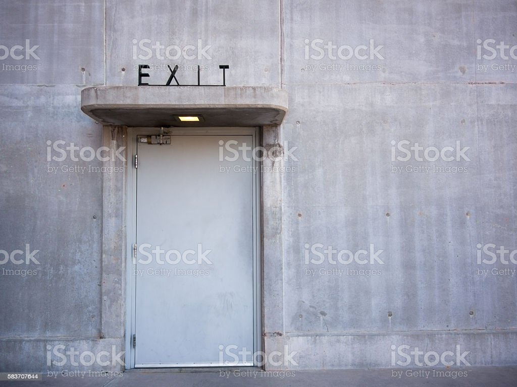 Art Deco Exit Sign stock photo